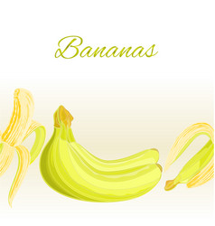 fruity border seamless background bananas vector image