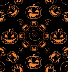 funny bright pumpkins seamless pattern vector image