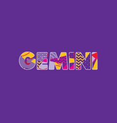 gemini concept word art vector image