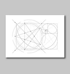 golden ratio section abstract vector image