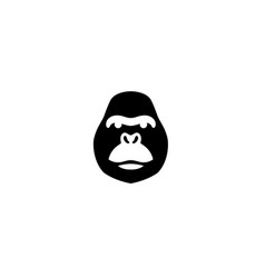 gorilla head with angry face for logo design vector image