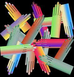 gradient hand poster vector image