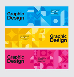 Graphic design geometry shape blue banner vector