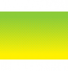 green and yellow halftone pattern vector image