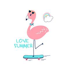 hand drawing flamingo vector image