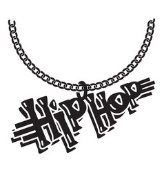 Hip hop jewelry icon simple style vector