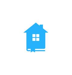 home book logo icon design vector image