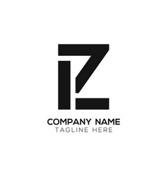 initial lz letter business logo design template vector image