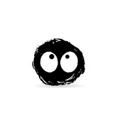Ink blot monster vector