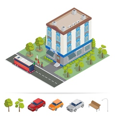 Isometric Hotel Hotel Building Travel Industry vector