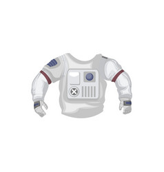 Jacket of space suit isolated icon vector