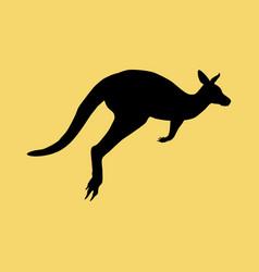Kangaroo silhouette vector