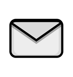 Letter message to communication concept icon vector