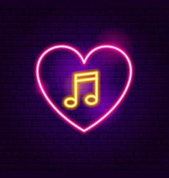 Love music neon sign vector