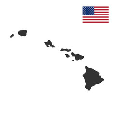 map of the us state of hawaii vector image