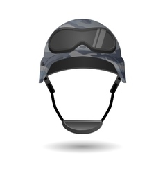 Military equipment for games helmet with glasses vector