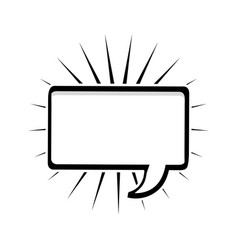 Monochrome silhouette rectangle shape dialog box vector