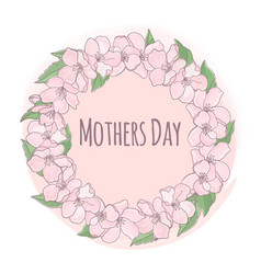 Mother day floral background frame vector