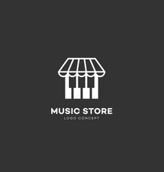 Music store logo vector