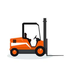 orange vehicle forklift vector image