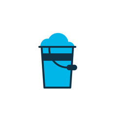 pail icon colored symbol premium quality isolated vector image
