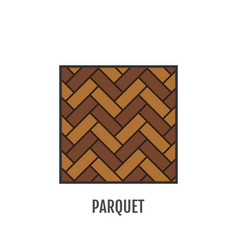 Parquet flooring flat icon object vector
