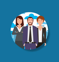 people man and women business group vector image