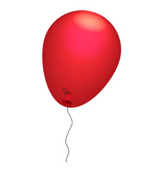 red balloon icon isometric style vector image