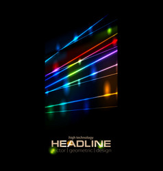 Retro neon glowing colorful laser beams vector