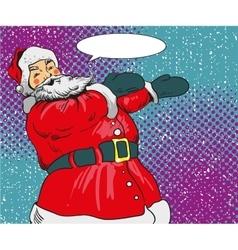 Santa claus in comic pop art vector image
