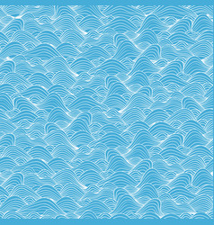 Seamless background with sea wave pattern vector