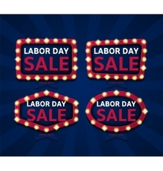 Set of banners for labor day vector image