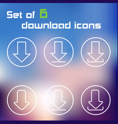 Set of download button icons vector