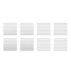 set wavy - curvy and zigzag - criss cross vector image