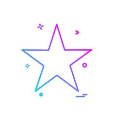 star icon design vector image