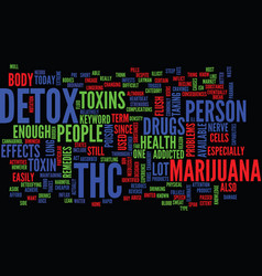 Thc detox text background word cloud concept vector