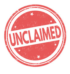 unclaimed sign or stamp vector image