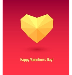 Valentines day card with abstract heart vector