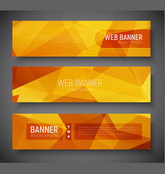 Web banner standard size template abstract vector