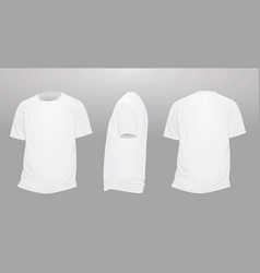 white polo t shirt template vector image