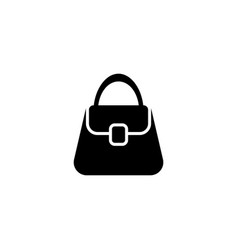 woman bag flat icon vector image