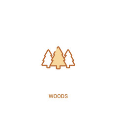 Woods concept 2 colored icon simple line element vector