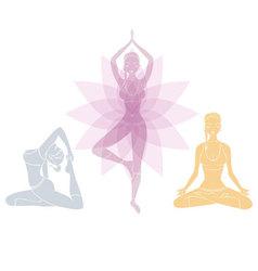Yoga womans vector
