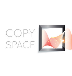 abstract wave in square vector image vector image