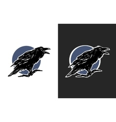 Black crow two options vector