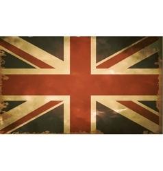British flag old vector image