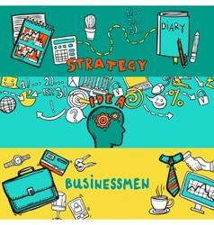 Business Banner Set vector image vector image