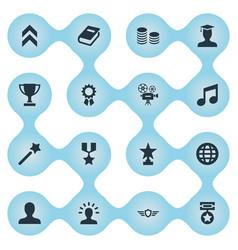 set of simple achievement vector image