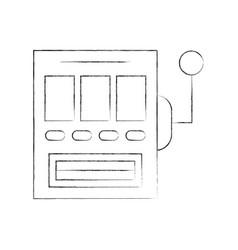 slot machine isolated icon vector image