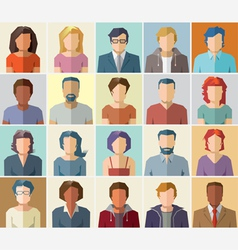Avatar profile icon set - people icons vector